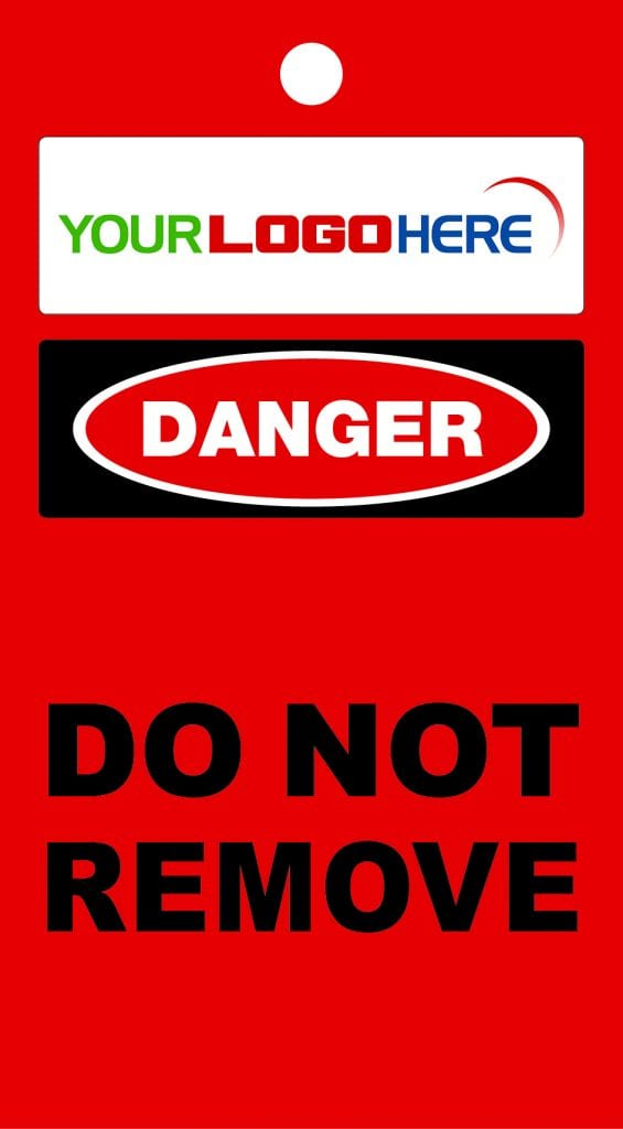 BMS Danger Do Not Remove Tag