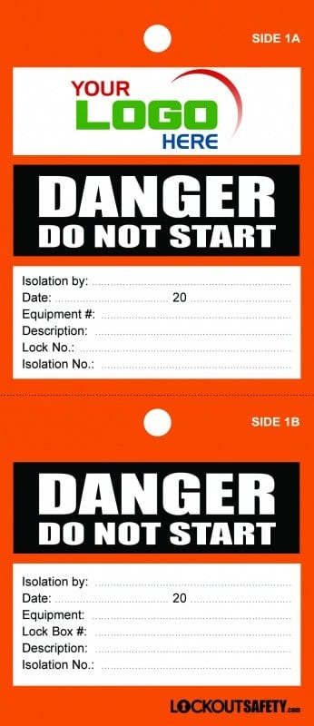 Danger Do Not Start TagDanger Do Not Start Tag