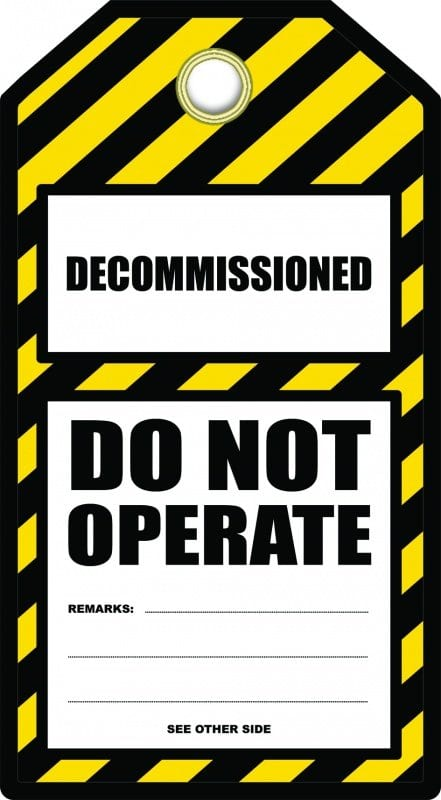 Decommissioned Tag