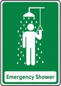 emrgency shower