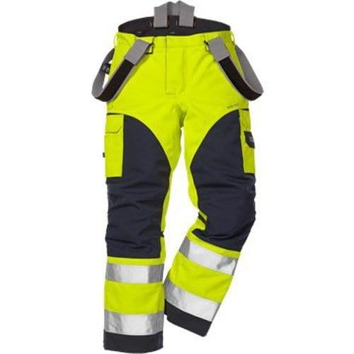 FRIS 2089 FRISTADS GORE TEX Trousers 2089 GXH Hi Vis Yellow Navy